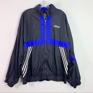 ADIDAS   Vintage 90's Stripes Windbreaker Coat L